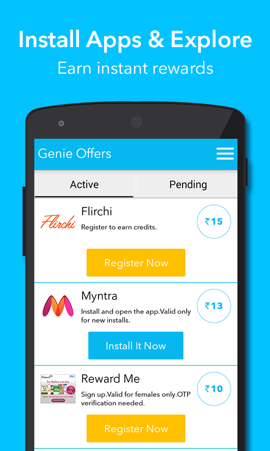 Genie Rewards, Free Recharge- screenshot