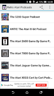 Retro Atari Podcasts- screenshot thumbnail