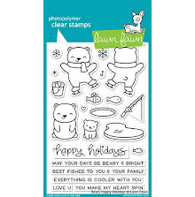 Lawn Fawn Clear Stamps 4X6 - Beary Happy Holidays