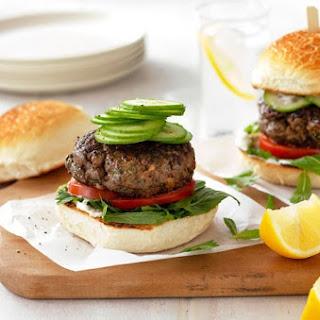 Greek Lamb & Portabella Mushroom Burgers
