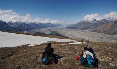 Photo: Looking ant Chitina valley from the ridge. Still 2 days travel. No food.