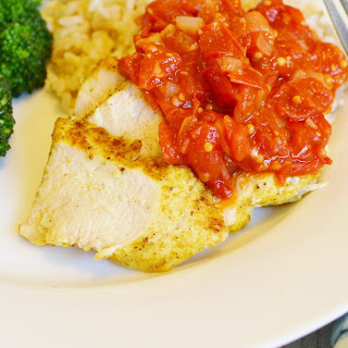 Grilled Indian Chicken with Tomato Chutney Recipe