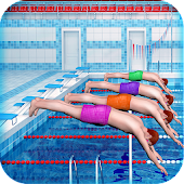 Swimming Pool Race Games for Girls