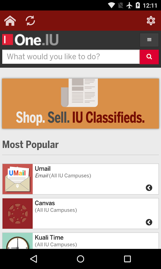 IU Mobile- screenshot