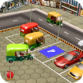 Tuk Tuk Auto Rickshaw Parking Games