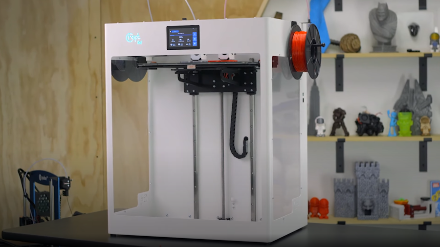 Seeing the Craftbot FLOW IDEX XL next to a standard spool really shows just how large this machine is.
