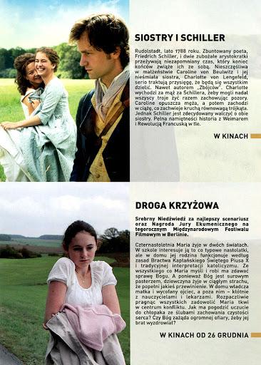 Tył ulotki filmu 'Siostry i Schiller'