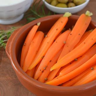 Quick-Pickled Baby Carrots.