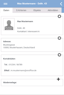 onOffice App – Miniaturansicht des Screenshots