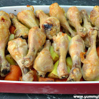 Baked Chicken Drumsticks With Potatoes Recipes.