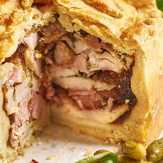 Chicken And Smoked Ham Pie.