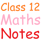 Class 12 Maths Notes