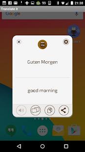 Voice translator Translate it - náhled