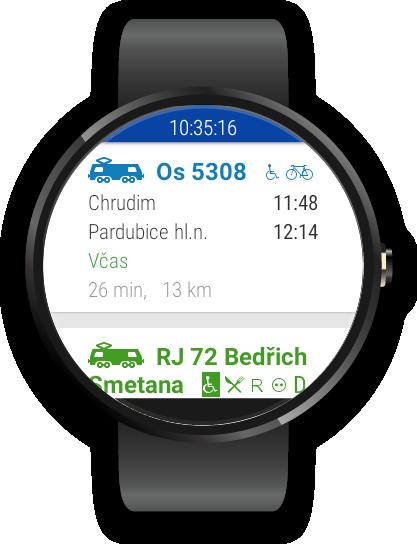 CG Transit offline jízdní řády- screenshot