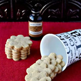 Coffee Shortbread Cookies.