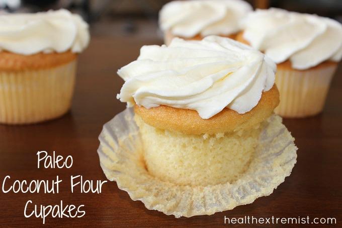 Coconut Flour Paleo Cupcakes