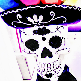 Happy Dead by Carlo McCoy - Public Holidays Halloween ( digital, soft colors, fun art, art, halloween, mexico, flowers, toys, public holiday, dead, tradition, day of the dead,  )