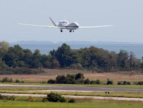Photo: NASA's Global Hawk arriving at Wallops Flight Facility on Sept. 7, 2012.