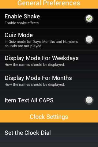 Скриншот Learn Clock,Day & Month - Kids