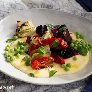 Baked Vegetables with Polenta