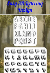 Easy 3D Lettering Design