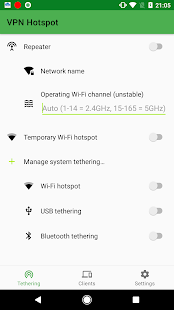 VPN Hotspot – tethering/Wi-Fi repeater 1