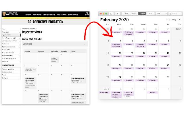UWaterloo Co-op Calendar Generator
