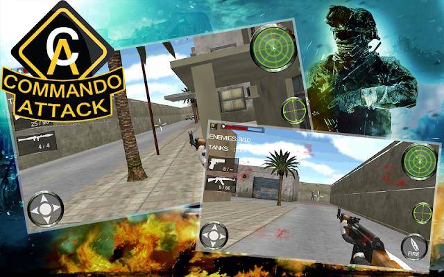 Commando Attack 3D - screenshot