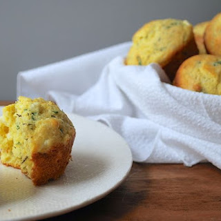 Cheesy Herbed Corn Muffins
