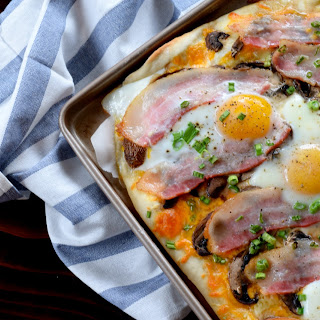 Breakfast Pizza with Easy 15 Minute Dough Recipe