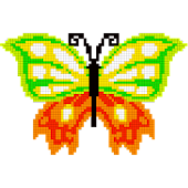 Butterfly Color by Number - Pixel Art Sandbox Draw