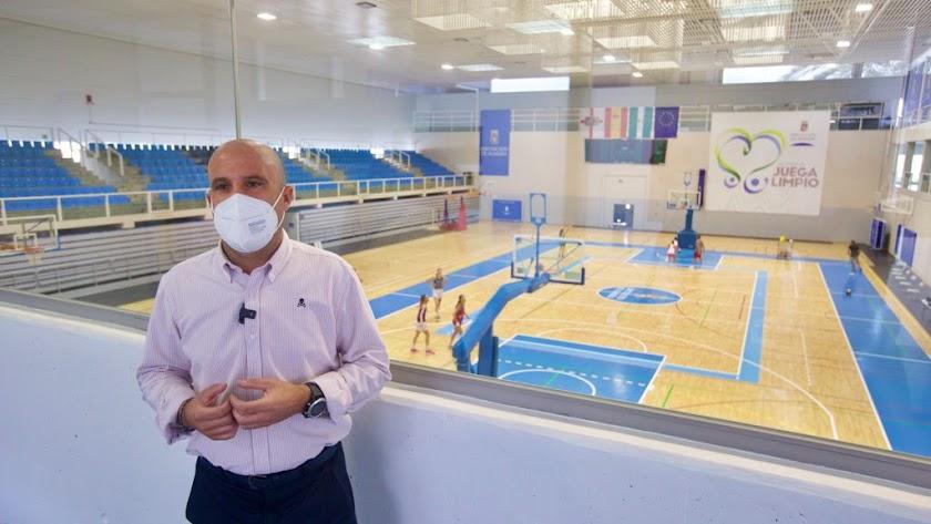 El diputado de Deportes en el Moisés Ruiz.