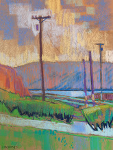"Photo: ""Carquinez Vista"", pastel by Nancy Roberts, copyright 2015"