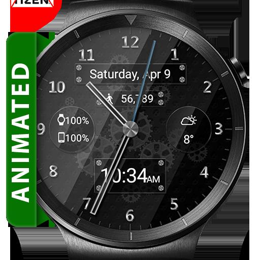 Black Glass HD Watch Face & Clock Widget