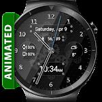 Black Glass HD Watch Face & Clock Widget Icon