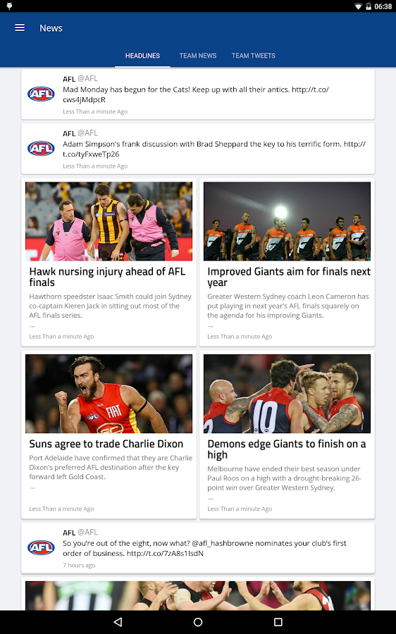 AFL Footy Live- screenshot