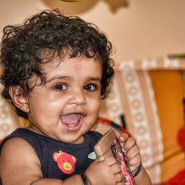 Joy by Vikas Jorwal - Babies & Children Child Portraits ( love, lovely, beautiful, baby girl, joy, happy, smile, joyful, laughing )