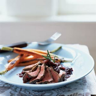 Rosemary Salt-Crusted Venison with Cherry-Cabernet Sauce