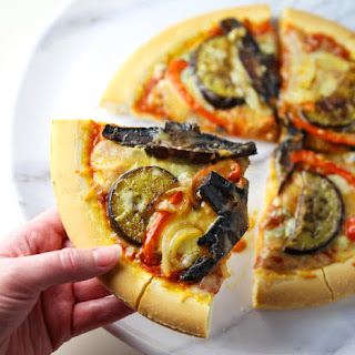 Roasted Vegetable Pizza (Gluten Free).