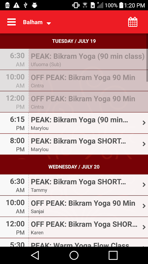 Hot Yoga South- screenshot