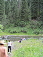 Photo: On our hike to the upper lake