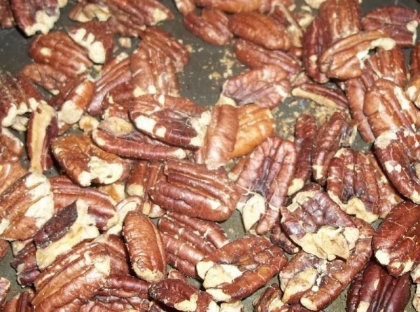 Preheat oven to 350 degree.  Toast pecans on a sheet pan 10 - 12 minutes....