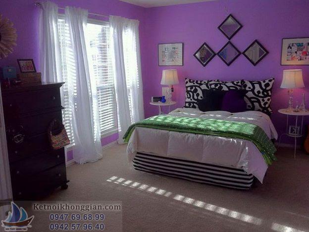 chọn màu phòng ngủ hợp lý