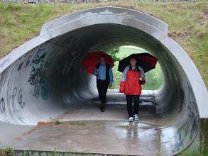Photo: På vej igennem underføringen under Odderbanen