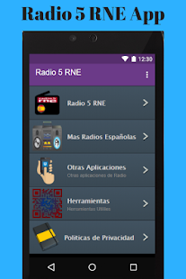 Radio 5 RNE App - náhled