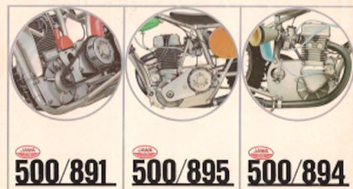 Dépliant publicitaire des moteurs Jawa.