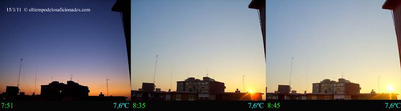 Photo: Amanecer del día 15/01/11
