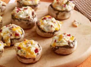 Cheese 'n Bacon Stuffed Mushrooms Recipe