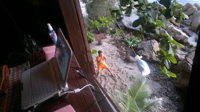 Photo: Whole bungalow shakes when landlady's son practices Thai kick boxing.