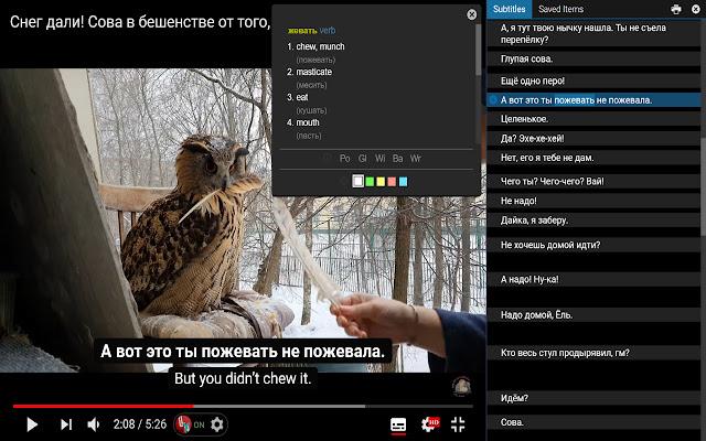 Language Learning with Youtube BETA